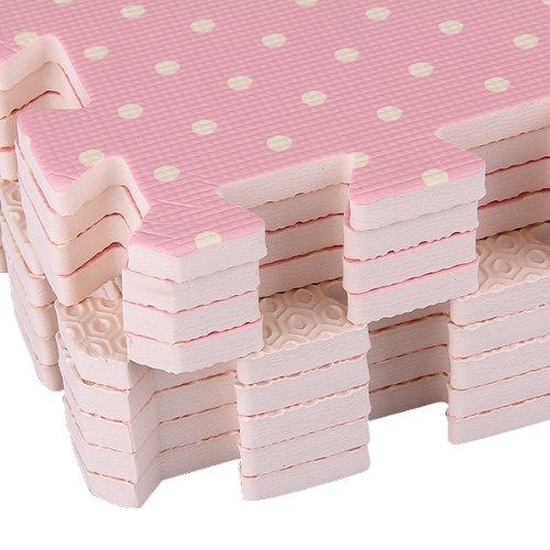 Compre Show 9x Tappeti Tappeto Puzzle Puntini Bois Eva 30x30x1cm Idea Regalo Bambini 0 4