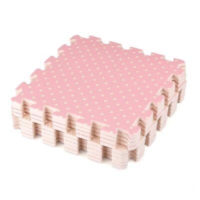 Compre Show 9x Tappeti Tappeto Puzzle Puntini Bois Eva 30x30x1cm Idea Regalo Bambini 0