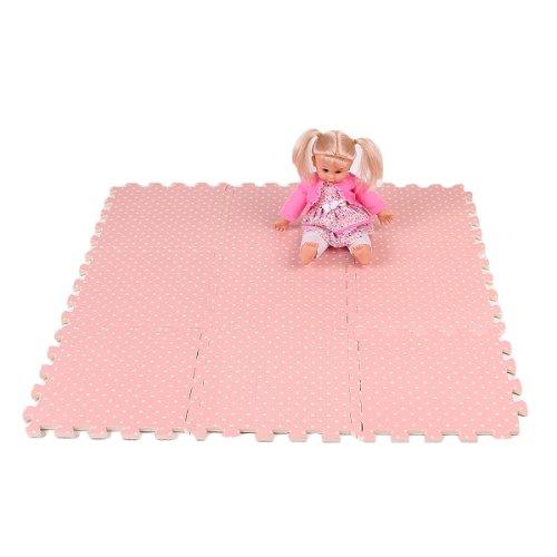 Compre Show 9x Tappeti Tappeto Puzzle Puntini Bois Eva 30x30x1cm Idea Regalo Bambini 0 5