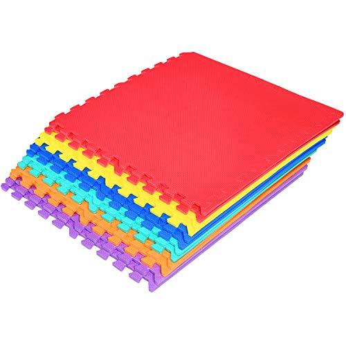 Dreamade Tappeto Puzzle In Schiuma Da 12 Pezzi Tappeto Puzzle Colorato Per Bambini Tappeto Morbido Da Bambini 60 X 60 X 1 Cm 0 0