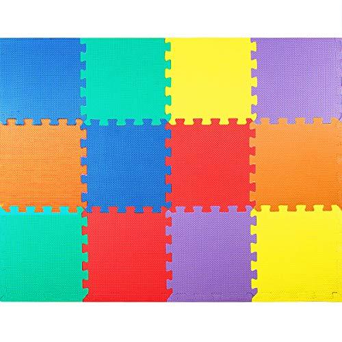 Dreamade Tappeto Puzzle In Schiuma Da 12 Pezzi Tappeto Puzzle Colorato Per Bambini Tappeto Morbido Da Bambini 60 X 60 X 1 Cm 0 1
