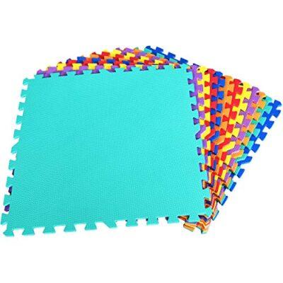 Dreamade Tappeto Puzzle In Schiuma Da 12 Pezzi Tappeto Puzzle Colorato Per Bambini Tappeto Morbido Da Bambini 60 X 60 X 1 Cm 0