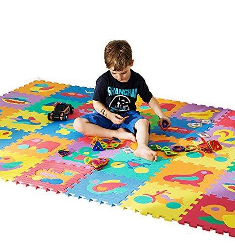 Dreamsbox Tappeto A Puzzle In Schiuma Per Il Gioco Dei Bambini 10 Pezzi In Eva Piastrelle In Schiuma Multicolore 0 3