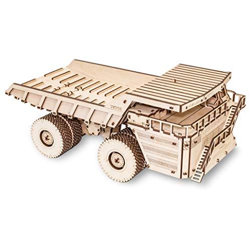 Ewa Eco Wood Art Belaz 75710 Camion 75710 Puzzle Meccanico Tridimensionale Puzzle Per Adulti E Adolescenti Collezione Senza Colla 453 Dettagli Colore Natura 0 0
