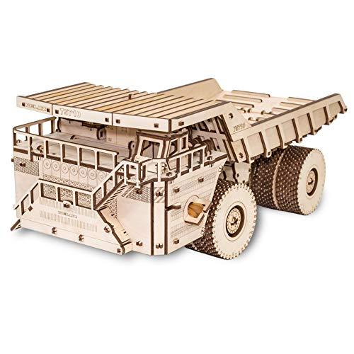 Ewa Eco Wood Art Belaz 75710 Camion 75710 Puzzle Meccanico Tridimensionale Puzzle Per Adulti E Adolescenti Collezione Senza Colla 453 Dettagli Colore Natura 0 1