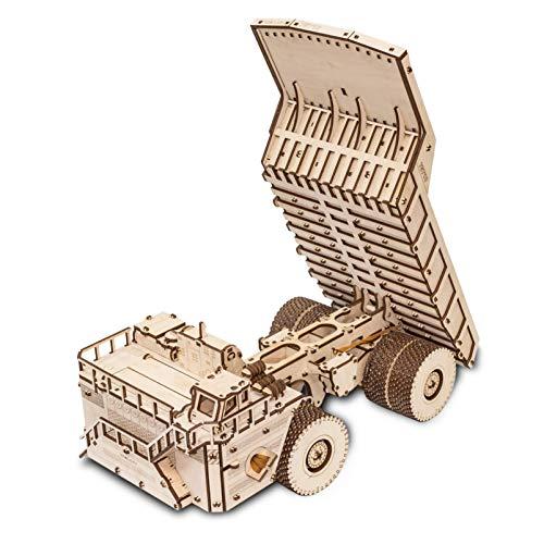 Ewa Eco Wood Art Belaz 75710 Camion 75710 Puzzle Meccanico Tridimensionale Puzzle Per Adulti E Adolescenti Collezione Senza Colla 453 Dettagli Colore Natura 0 2
