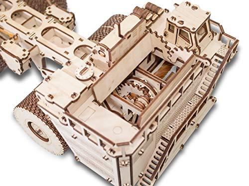 Ewa Eco Wood Art Belaz 75710 Camion 75710 Puzzle Meccanico Tridimensionale Puzzle Per Adulti E Adolescenti Collezione Senza Colla 453 Dettagli Colore Natura 0 3