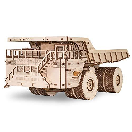 Ewa Eco Wood Art Belaz 75710 Camion 75710 Puzzle Meccanico Tridimensionale Puzzle Per Adulti E Adolescenti Collezione Senza Colla 453 Dettagli Colore Natura 0