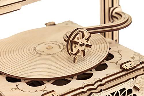 Ewa Eco Wood Art Gramophone Grammofono Meccanico Tridimensionale Puzzle Per Adulti E Adolescenti Collezione Senza Colla 321 Dettagli Colore Natura 0 1