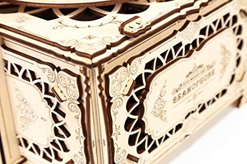 Ewa Eco Wood Art Gramophone Grammofono Meccanico Tridimensionale Puzzle Per Adulti E Adolescenti Collezione Senza Colla 321 Dettagli Colore Natura 0 2