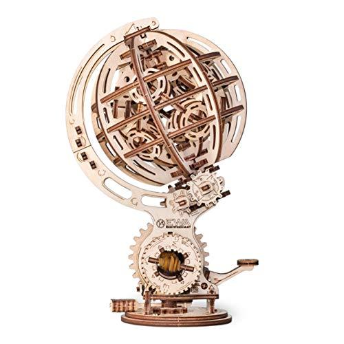 Ewa Eco Wood Art Kinetic Globe Globo Cinetico Meccanico Tridimensionale Puzzle Per Adulti E Adolescenti Collezione Senza Colla 205 Dettagli Colore Natura 0 0