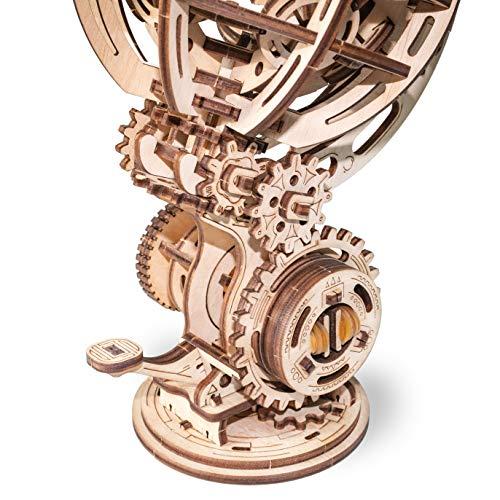 Ewa Eco Wood Art Kinetic Globe Globo Cinetico Meccanico Tridimensionale Puzzle Per Adulti E Adolescenti Collezione Senza Colla 205 Dettagli Colore Natura 0 1
