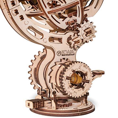 Ewa Eco Wood Art Kinetic Globe Globo Cinetico Meccanico Tridimensionale Puzzle Per Adulti E Adolescenti Collezione Senza Colla 205 Dettagli Colore Natura 0 2
