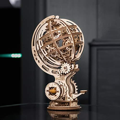 Ewa Eco Wood Art Kinetic Globe Globo Cinetico Meccanico Tridimensionale Puzzle Per Adulti E Adolescenti Collezione Senza Colla 205 Dettagli Colore Natura 0 3