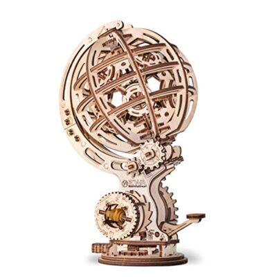 Ewa Eco Wood Art Kinetic Globe Globo Cinetico Meccanico Tridimensionale Puzzle Per Adulti E Adolescenti Collezione Senza Colla 205 Dettagli Colore Natura 0