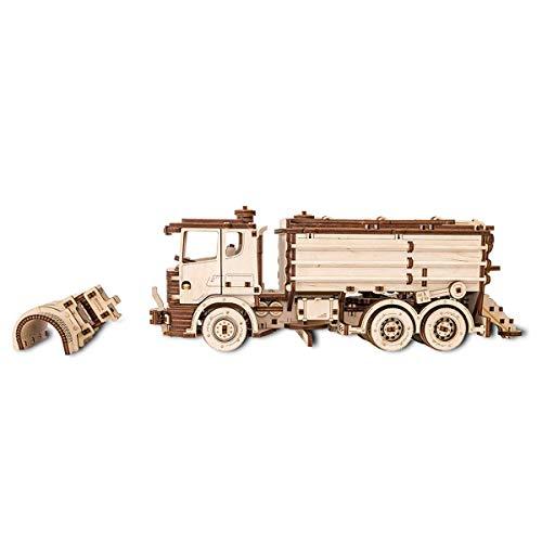 Ewa Eco Wood Art Snowtruck Spazzaneve Meccanico Tridimensionale Puzzle Per Adulti E Adolescenti Collezione Senza Colla 417 Dettagli Colore Natura 0 1