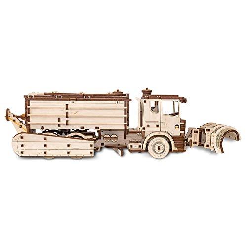 Ewa Eco Wood Art Snowtruck Spazzaneve Meccanico Tridimensionale Puzzle Per Adulti E Adolescenti Collezione Senza Colla 417 Dettagli Colore Natura 0 2