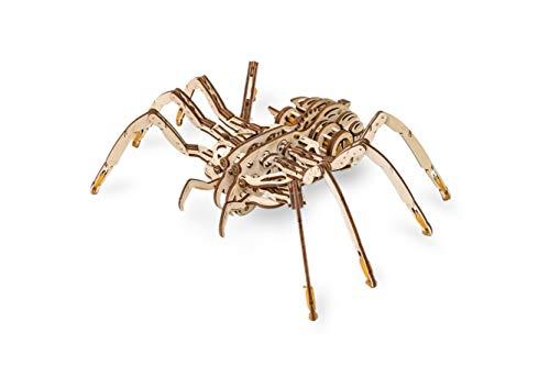 Ewa Eco Wood Art Spider Ragno Meccanico Tridimensionale Puzzle Per Adulti E Adolescenti Collezione Senza Colla 293 Dettagli Colore Natura 0 0