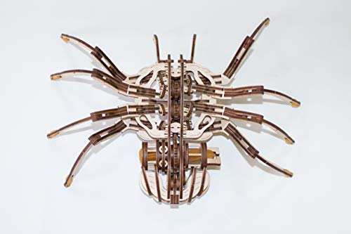 Ewa Eco Wood Art Spider Ragno Meccanico Tridimensionale Puzzle Per Adulti E Adolescenti Collezione Senza Colla 293 Dettagli Colore Natura 0 5
