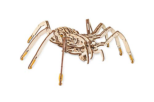 Ewa Eco Wood Art Spider Ragno Meccanico Tridimensionale Puzzle Per Adulti E Adolescenti Collezione Senza Colla 293 Dettagli Colore Natura 0