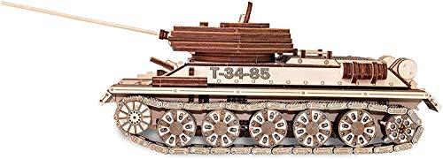 Ewa Eco Wood Art Tank T 34 85 Serbatoio T 34 85 Puzzle Meccanico Tridimensionale Puzzle Per Adulti E Adolescenti Collezione Senza Colla 965 Dettagli Colore Natura 0 0