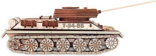 Ewa Eco Wood Art Tank T 34 85 Serbatoio T 34 85 Puzzle Meccanico Tridimensionale Puzzle Per Adulti E Adolescenti Collezione Senza Colla 965 Dettagli Colore Natura 0 1