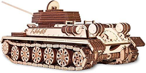 Ewa Eco Wood Art Tank T 34 85 Serbatoio T 34 85 Puzzle Meccanico Tridimensionale Puzzle Per Adulti E Adolescenti Collezione Senza Colla 965 Dettagli Colore Natura 0 2