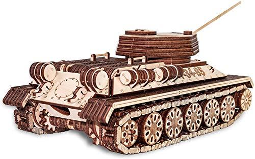 Ewa Eco Wood Art Tank T 34 85 Serbatoio T 34 85 Puzzle Meccanico Tridimensionale Puzzle Per Adulti E Adolescenti Collezione Senza Colla 965 Dettagli Colore Natura 0 4