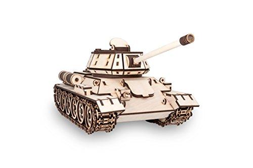Ewa Eco Wood Art Tank T 34 Serbatoio T 34 Puzzle Meccanico Tridimensionale In Legno Puzzle Per Adulti E Ragazzi Assemblaggio Con Colla 600 Dettagli Colore Natura 0 0