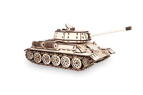Ewa Eco Wood Art Tank T 34 Serbatoio T 34 Puzzle Meccanico Tridimensionale In Legno Puzzle Per Adulti E Ragazzi Assemblaggio Con Colla 600 Dettagli Colore Natura 0 1