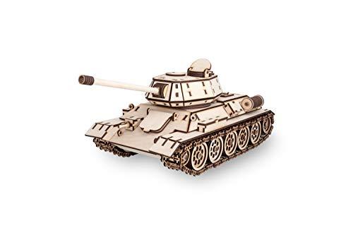 Ewa Eco Wood Art Tank T 34 Serbatoio T 34 Puzzle Meccanico Tridimensionale In Legno Puzzle Per Adulti E Ragazzi Assemblaggio Con Colla 600 Dettagli Colore Natura 0 2