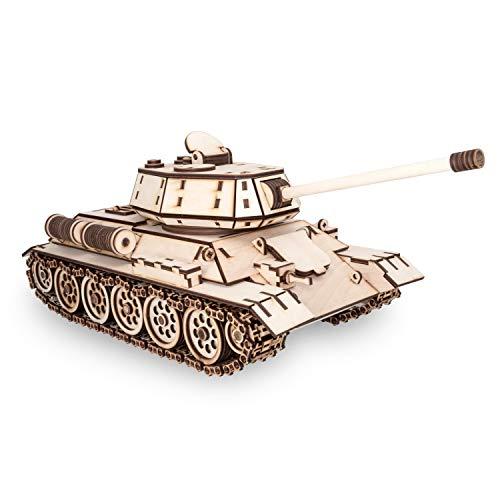 Ewa Eco Wood Art Tank T 34 Serbatoio T 34 Puzzle Meccanico Tridimensionale In Legno Puzzle Per Adulti E Ragazzi Assemblaggio Con Colla 600 Dettagli Colore Natura 0