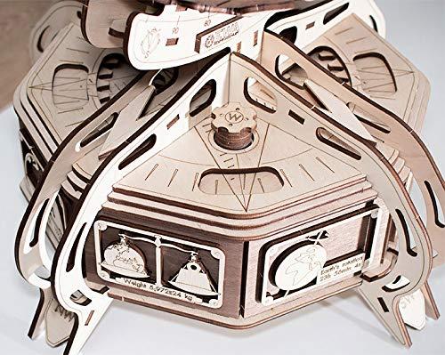 Ewa Eco Wood Art The Globe Brown Globo Meccanico Tridimensionale Puzzle Per Adulti E Adolescenti Collezione Senza Colla 393 Dettagli Colore Marrone 393 0 4