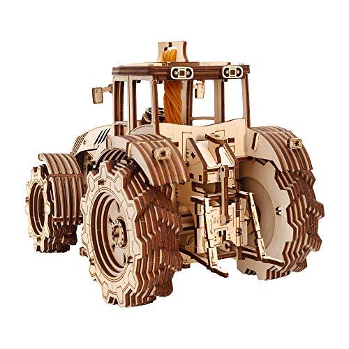 Ewa Eco Wood Art Tractor Trattore Meccanico Tridimensionale Puzzle Per Adulti E Adolescenti Collezione Senza Colla 358 Dettagli Colore Natura 0 0