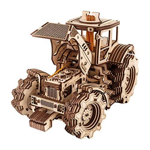 Ewa Eco Wood Art Tractor Trattore Meccanico Tridimensionale Puzzle Per Adulti E Adolescenti Collezione Senza Colla 358 Dettagli Colore Natura 0 1