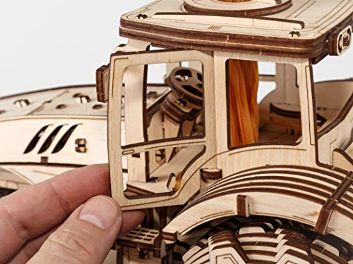 Ewa Eco Wood Art Tractor Trattore Meccanico Tridimensionale Puzzle Per Adulti E Adolescenti Collezione Senza Colla 358 Dettagli Colore Natura 0 3