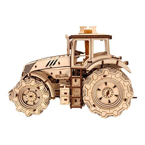 Ewa Eco Wood Art Tractor Trattore Meccanico Tridimensionale Puzzle Per Adulti E Adolescenti Collezione Senza Colla 358 Dettagli Colore Natura 0 4