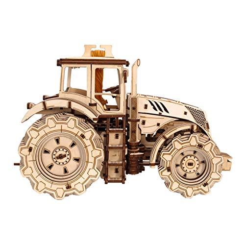 Ewa Eco Wood Art Tractor Trattore Meccanico Tridimensionale Puzzle Per Adulti E Adolescenti Collezione Senza Colla 358 Dettagli Colore Natura 0 5
