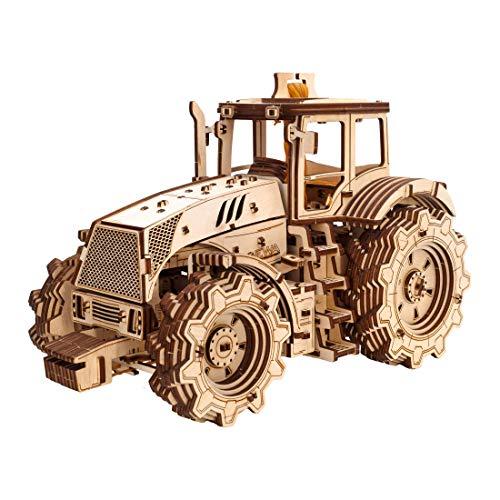 Ewa Eco Wood Art Tractor Trattore Meccanico Tridimensionale Puzzle Per Adulti E Adolescenti Collezione Senza Colla 358 Dettagli Colore Natura 0