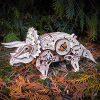 Ewa Eco Wood Art Triceratops Triceratopo Meccanico Tridimensionale Puzzle Per Adulti E Adolescenti Collezione Senza Colla 283 Dettagli Colore Natura 0 4