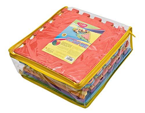Edukit Tappeto A Puzzle In Schiuma Per Il Gioco Dei Bambini 12 Pezzi In Eva Piastrelle In Schiuma Multicolore 0 0