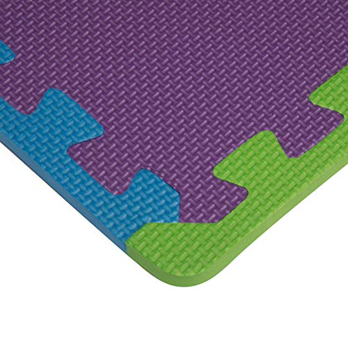 Edukit Tappeto A Puzzle In Schiuma Per Il Gioco Dei Bambini 12 Pezzi In Eva Piastrelle In Schiuma Multicolore 0 4