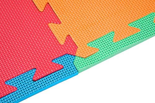 Edukit Tappeto A Puzzle In Schiuma Per Il Gioco Dei Bambini 12 Pezzi In Eva Piastrelle In Schiuma Multicolore 0 5
