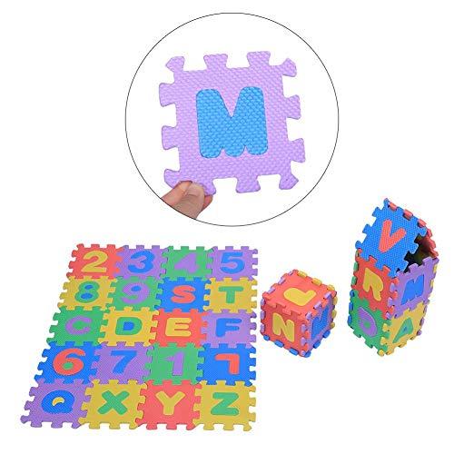 Estink Tappeto A Puzzle In Schiuma Per Il Gioco Dei Bambini 36 Pezzi Tappetino Puzzle In Eva Tappeto Da Gioco Per Bambini Multicolore 12 X 12 Cm 0 0