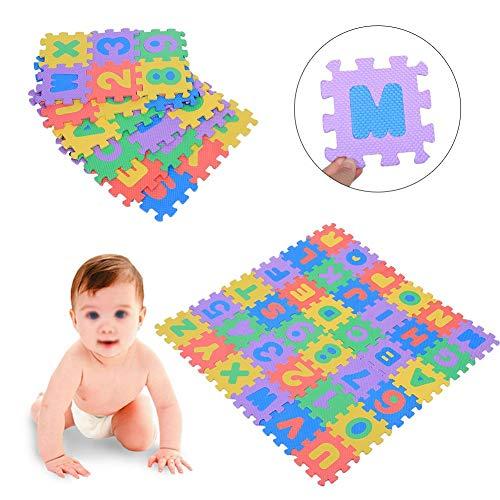 Estink Tappeto A Puzzle In Schiuma Per Il Gioco Dei Bambini 36 Pezzi Tappetino Puzzle In Eva Tappeto Da Gioco Per Bambini Multicolore 12 X 12 Cm 0 2