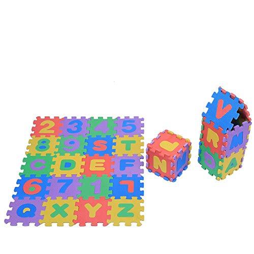 Estink Tappeto A Puzzle In Schiuma Per Il Gioco Dei Bambini 36 Pezzi Tappetino Puzzle In Eva Tappeto Da Gioco Per Bambini Multicolore 12 X 12 Cm 0 3