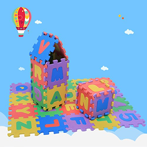 Estink Tappeto A Puzzle In Schiuma Per Il Gioco Dei Bambini 36 Pezzi Tappetino Puzzle In Eva Tappeto Da Gioco Per Bambini Multicolore 12 X 12 Cm 0 5