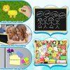 Jojoin Puzzle Magnetico Legno Double Face Pittura Tema Animali E Foreste Puzzle Con Lavagna Per Bambini 3 4 5 Anni Presente Immaginazione 0 4
