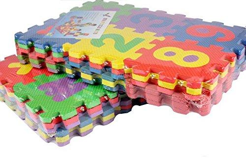 Kiccoly Tappeto Puzzle Per Bambini In Soffice Schiuma Eva Tappetino Gioco Per La Cameretta A Quadri Multicolore 36pcs A Z 0 9 0 3