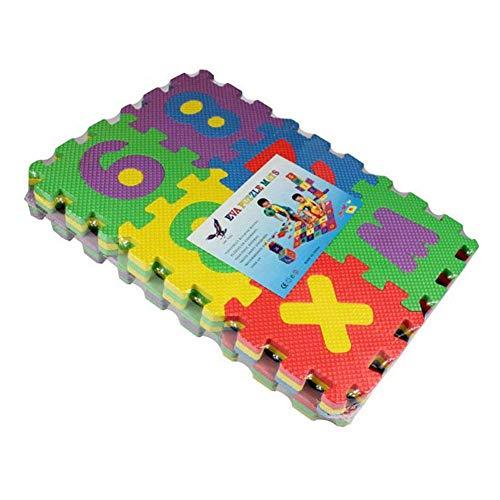 Kiccoly Tappeto Puzzle Per Bambini In Soffice Schiuma Eva Tappetino Gioco Per La Cameretta A Quadri Multicolore 36pcs A Z 0 9 0